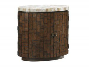 Hilton Head Furniture - John Kilmer Fine Interiors   Banyan Oval Accent Table 1