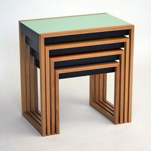 Hilton Head Furniture - John Kilmer Fine Interiors   Bauhaus Nesting Tables 1 Bauhaus Nesting Tables 1