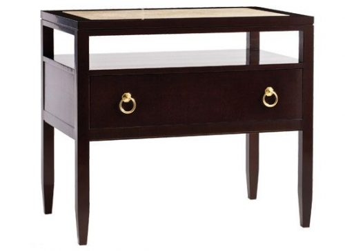 Hilton Head Furniture - John Kilmer Fine Interiors   Bedside Table – Quartz Top 1 Bedside Table   Quartz Top 1