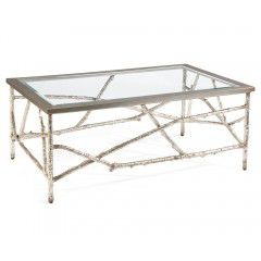 Hilton Head Furniture Store - Branches Cocktail Table In Silver