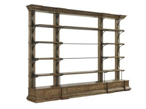 "Hilton Head Furniture Store - Fine Furniture Design Cachet Cambrion Occassional Bookcase 55"" Shelving Unit"