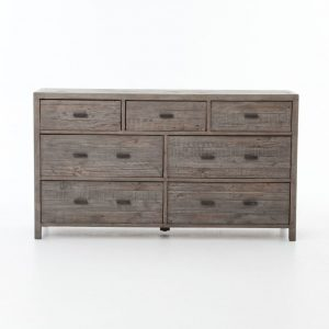 Hilton Head Furniture - John Kilmer Fine Interiors   Caminito Grey Reclaimed Wood 7 Drawer Dresser 1