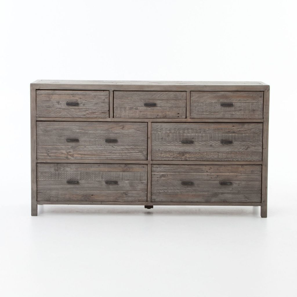 Caminito Grey Reclaimed Wood 7 Drawer Dresser John Kilmer