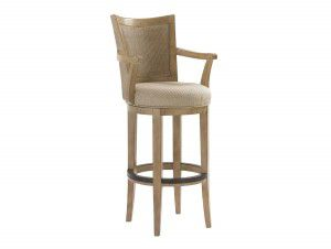 Hilton Head Furniture - From John Kilmer Fine Interiors - Carmel Swivel Bar Stool