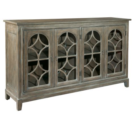 Hilton Head Furniture Store -  Entertainment Console With Arched Doors 1