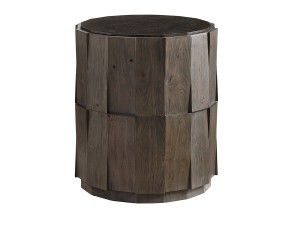 Hilton Head Furniture - John Kilmer Fine Interiors   Everett Round Travertine End Table