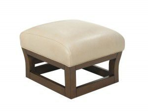 Hilton Head Furniture - John Kilmer Fine Interiors   Fusion Leather Ottoman 1