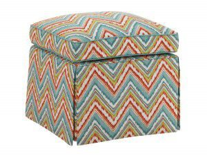 Hilton Head Furniture - From John Kilmer Fine Interiors - Half Moon Caye Ottoman 1