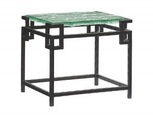 Hilton Head Furniture Store - Hermes Reef Glass Top End Table