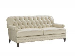 Hilton Head Furniture Store - Lexington Oyster Bay Hillstead Leather Settee