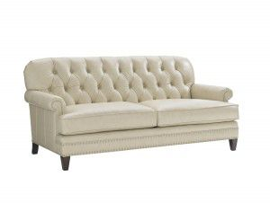 Hilton Head Furniture - John Kilmer Fine Interiors   Hillstead Leather Settee Hillstead Leather Settee
