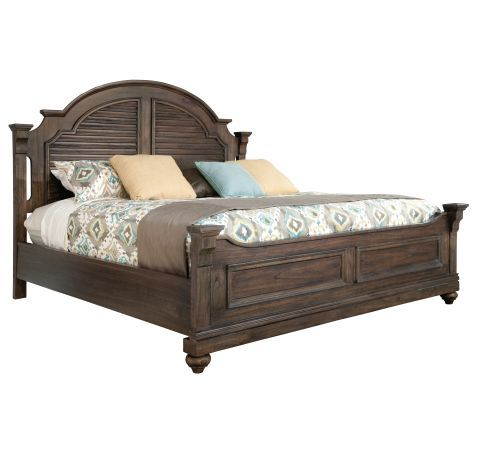 Hilton Head Furniture - John Kilmer Fine Interiors   Homestead Louvered King Bed 1 Homestead Louvered King Bed 1