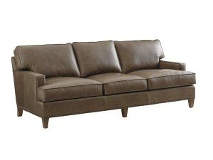 Hilton Head Furniture Store -  Hughes Leather Sofa