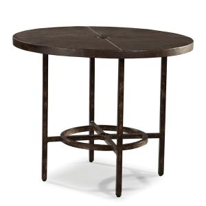 Hilton Head Furniture - John Kilmer Fine Interiors   Industrial Renaissance Outdoor 36inch Round Dining Table 1