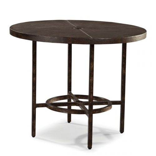 Hilton Head Furniture - John Kilmer Fine Interiors   Industrial Renaissance Outdoor 36inch Round Dining Table 1 Industrial Renaissance Outdoor 36inch Round Dining Table 1
