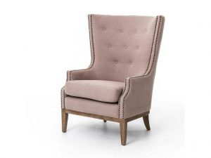 Hilton Head Furniture - John Kilmer Fine Interiors   Kensington Gray Chevron Lillian Occasional Chair 1