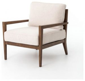 Hilton Head Furniture - John Kilmer Fine Interiors   Kensington Laurent Wood Frame Accent Chair 1