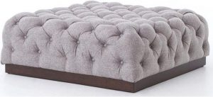 Hilton Head Furniture - John Kilmer Fine Interiors   Kensington Tufted Plateau Cocktail Ottoman 1