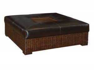 Hilton Head Furniture Store - Ma Holla Leather Cocktail Ottoman