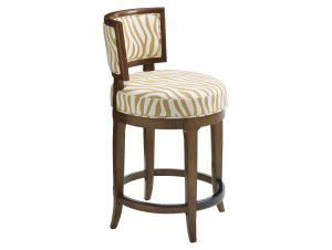 Hilton Head Furniture - John Kilmer Fine Interiors   Macau Swivel Counter Stool2 1