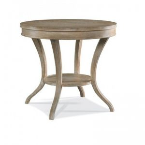 Hickory White Maison Round Lamp Table
