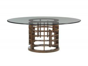 Hilton Head Furniture Store - Meridien Dining Table With 72 Inch Glass Top
