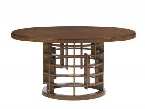Hilton Head Furniture - John Kilmer Fine Interiors   Meridien Dining Table With Wooden Top 1