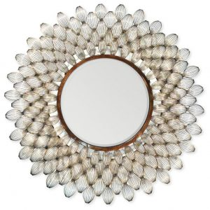 Hilton Head Furniture - John Kilmer Fine Interiors   Metal Scallop Shells Mirror 1