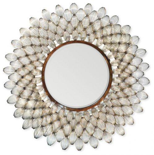 Hilton Head Furniture - John Kilmer Fine Interiors   Metal Scallop Shells Mirror 1 Metal Scallop Shells Mirror 1