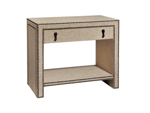 Hilton Head Furniture Store -  Nailhead And Linen Nighstand