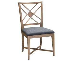 Hilton Head Furniture - John Kilmer Fine Interiors   Nash Lattice Back Side Chair 22 074 1
