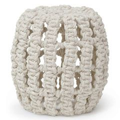 Hilton Head Furniture - John Kilmer Fine Interiors   Palecek Annabel Hassock Stool 1
