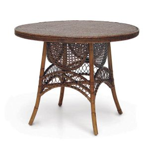 Hilton Head Furniture - John Kilmer Fine Interiors   Palecek Antique Cane Table 1