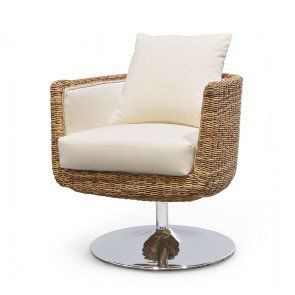 Hilton Head Furniture - John Kilmer Fine Interiors   Palecek Metro Disc Base Swivel Chair 1