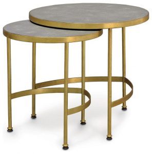 Hilton Head Furniture - John Kilmer Fine Interiors   Palecek Wells Faux Shagreen Side Table 1