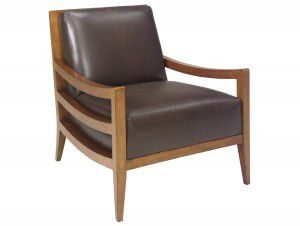 Hilton Head Furniture - John Kilmer Fine Interiors   Singapore Leather Chair 1