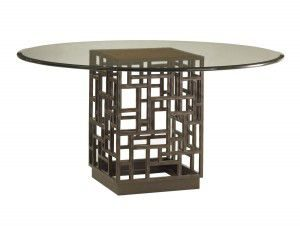 Hilton Head Furniture - John Kilmer Fine Interiors   South Sea Dining Table With 54inch Glass Top 1