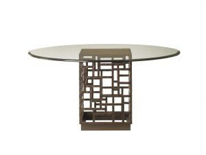 Hilton Head Furniture - John Kilmer Fine Interiors   South Sea Dining Table With 60inch Glass Top 1