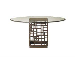 Hilton Head Furniture - John Kilmer Fine Interiors   South Sea Dining Table With 60inch Glass Top 1 South Sea Dining Table With 60inch Glass Top 1