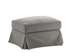 Hilton Head Furniture - John Kilmer Fine Interiors   Stowe Ottoman Slipcover Gray