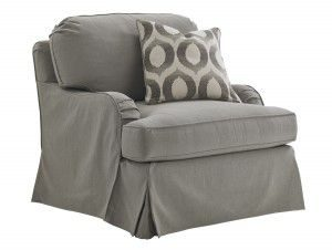 Hilton Head Furniture - John Kilmer Fine Interiors   Stowe Slipcover Chair Gray