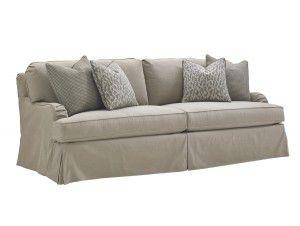 Hilton Head Furniture Store -  Stowe Slipcover Sofa Gray