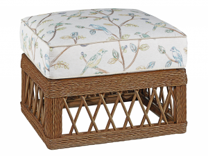 Hilton Head Furniture - John Kilmer Fine Interiors   Trellis Wicker Ottoman