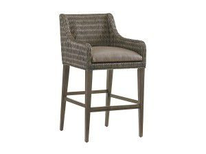 Hilton Head Furniture - John Kilmer Fine Interiors   Turner Woven Bar Stool