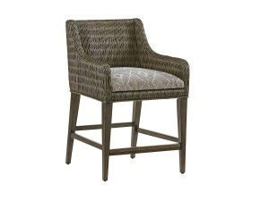 Hilton Head Furniture - From John Kilmer Fine Interiors - Turner Woven Counter Stool2