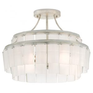 Hilton Head Furniture Store - Currey & Company Vintner Blanc Semi Flush Mount