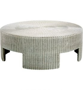 "Hilton Head Furniture - 48"" Wicker Round Coffee Table"