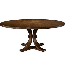 Hilton Head Furniture - Artisan Round Dining Table Top & Base   Ash