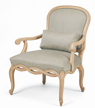 Hilton Head Furniture Store -  Carved French Chair 1