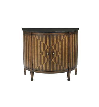 Hilton Head Furniture -  Continental Demi Lune Cabinet
